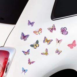 bunte Schmetterlinge Autoaufkleber
