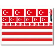 Flaggenaufkleber - Türkei