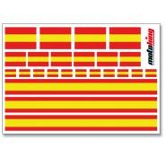 Flaggenaufkleber - Spanien