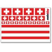 Flaggenaufkleber - Schweiz