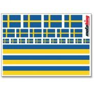 Flaggenaufkleber - Schweden