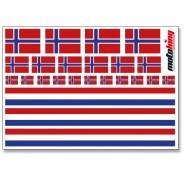 Flaggenaufkleber - Norwegen