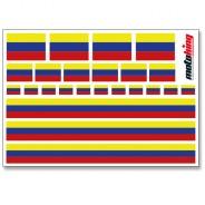 Flaggenaufkleber - Kolumbien