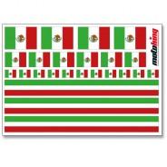 Flaggenaufkleber - Mexico