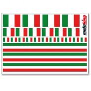 Flaggenaufkleber - Italien