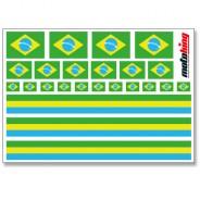 Flaggenaufkleber - Brasilien