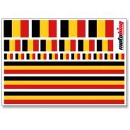 Flaggenaufkleber - Belgien