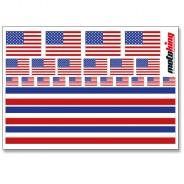 Flaggenaufkleber - USA