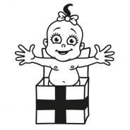 Babyaufkleber Lea