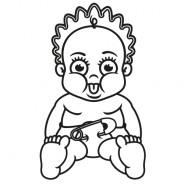 Babyaufkleber Julia