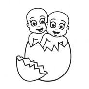 Babyaufkleber Lilly & Marie