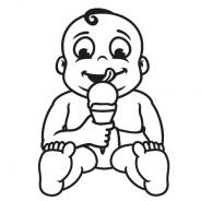 Babyaufkleber Lukas