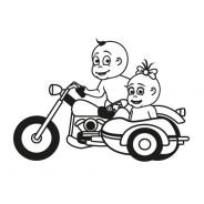 Babyaufkleber Lena & Luca