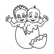 Babyaufkleber Zoe & Finn