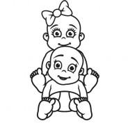 Babyaufkleber Nele & Emil