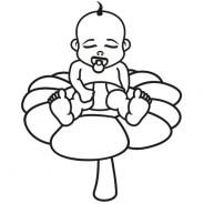 Babyaufkleber Felix