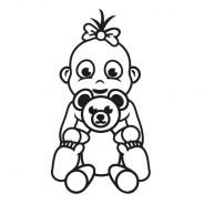 Babyaufkleber Romina