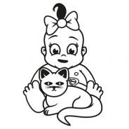 Babyaufkleber Helena