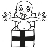 Babyaufkleber Justin