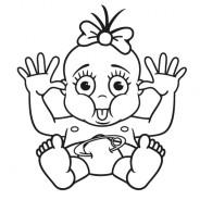 Babyaufkleber Sandra