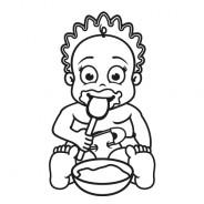 Babyaufkleber Jana