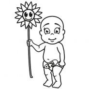 Babyaufkleber Simon