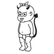 Babyaufkleber Kira