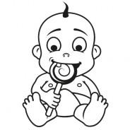 Babyaufkleber Anton