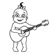 Babyaufkleber Melanie