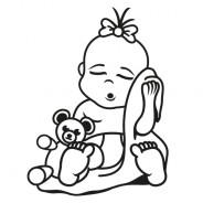 Babyaufkleber Melina