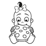 Babyaufkleber Nicole