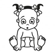 Babyaufkleber Isabella