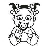 Babyaufkleber Marlene